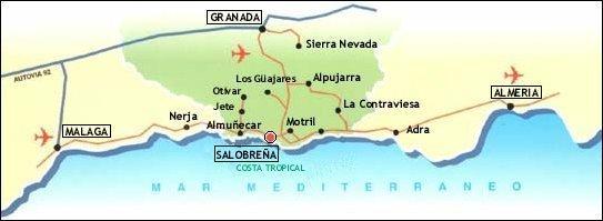 Costa De Granada Mapa.How To Get There Tango Sol De Invierno